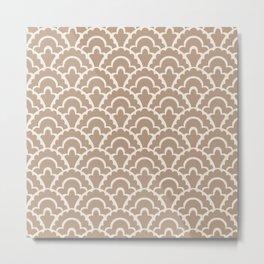 Fan Pattern Beige 244 Metal Print