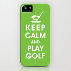 Keep Calm and Play Golf iPhone (5, 5s) Slim Case