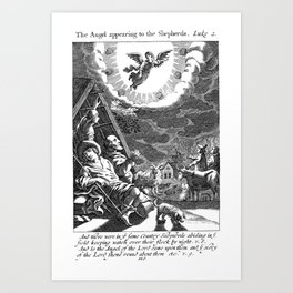 The Angels appeared to the Shepherds Art Print
