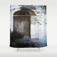 italian Shower Curtains featuring Italian Door by Maria Heyens
