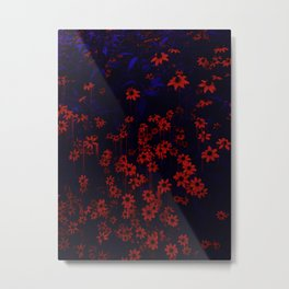 DRIPPING FLOWERS Metal Print