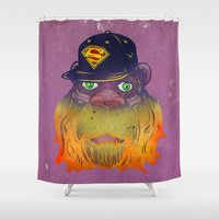 thundercats Shower Curtains featuring Super Squatch by Beery Method