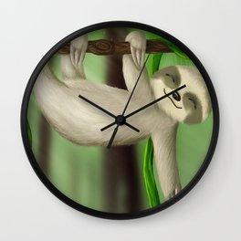 Just slothin' Wall Clock