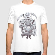 abrxs White MEDIUM Mens Fitted Tee
