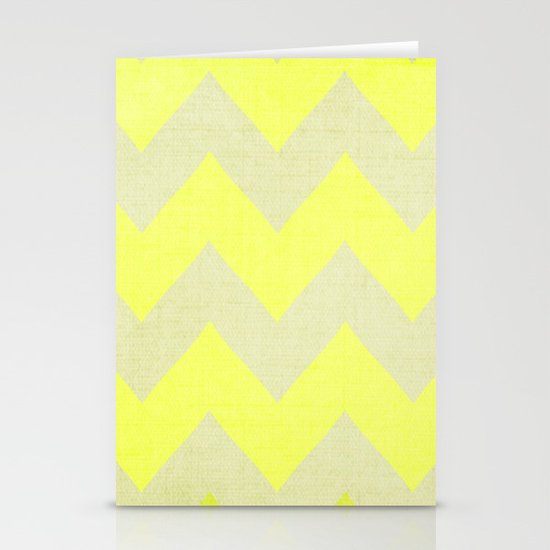 Jonquils & Daffodils - Yellow Chevron Stationery Cards