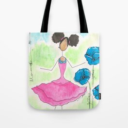 Tia Skipping So Happy Tote Bag