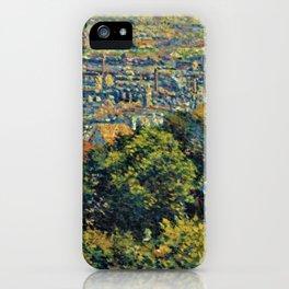 Classical Masterpiece 1900 'Paris - Montmartre' by Maximilien Luce iPhone Case