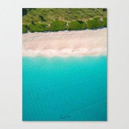 Morning walk on the beach Canvas Print
