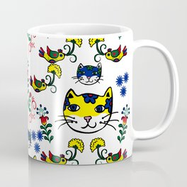 Folk Love Cat Coffee Mug