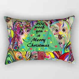 We Woof You a Merry Christmas Rectangular Pillow