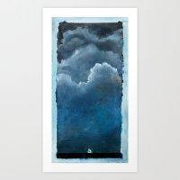 sailboat Art Prints featuring sailboat by Kayla Kristine