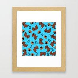 Cute Puppy Pattern Framed Art Print