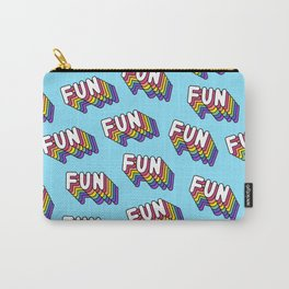 FUN pattern. Blue. Carry-All Pouch