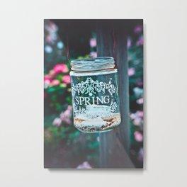 SPRING IN A JAR Metal Print