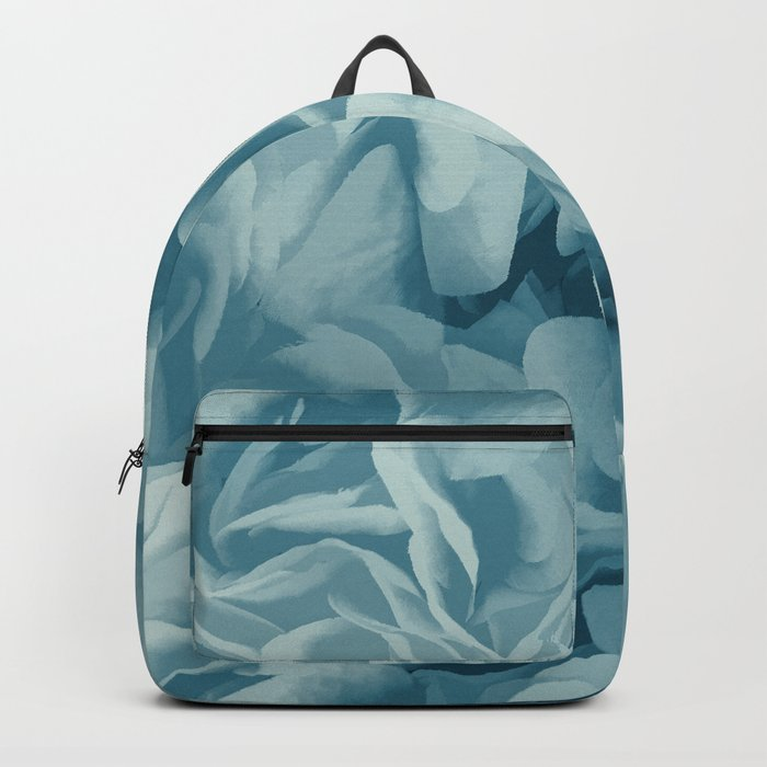 Soft Baby Blue Petal Ruffles Abstract Backpack