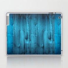 Blue Wood Planks Laptop & iPad Skin