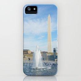 washington monument photography art iPhone Case