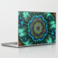 halo Laptop & iPad Skins featuring Fractal Halo by Harvey Warwick
