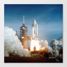 First Space Shuttle Launch Canvas Print