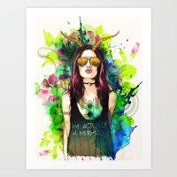 capricorn Art Prints featuring Capricorn by Sara Eshak