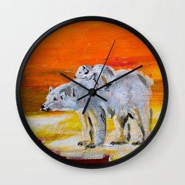 Polar Bears Surviving Wall Clock