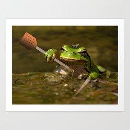 Frog Perspective Art Print