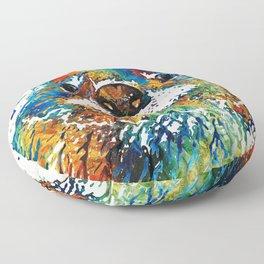 Otter Art - Ottertude - By Sharon Cummings Floor Pillow