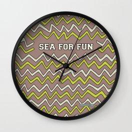Sea for fun (brown) Wall Clock