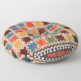 Qashqa'i Fars Southwest Persian Kilim Print Floor Pillow