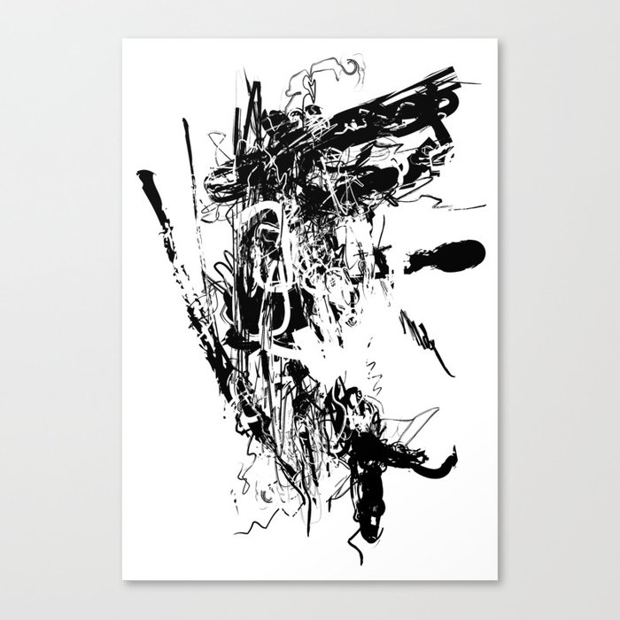 Spider 02 Black And White Abstract Art Art Prints Canvas Print By Artvimo