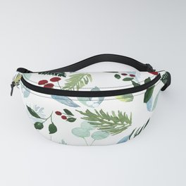 Blue Christmas Fanny Pack
