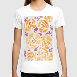 9     190412 Flower Abstract Watercolour Painting T-shirt
