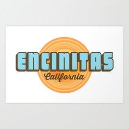 Encinitas - California. Art Print