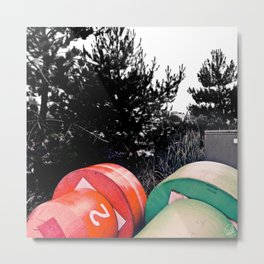 Twin Buoys Metal Print