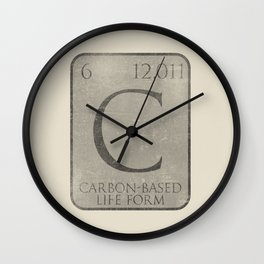 Carbon-Based Life Form Wall Clock