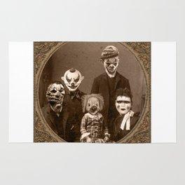 Creepy Clown Family Halloween Rug