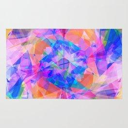 Modern bright pink lavender abstract kaleidoscope pattern Rug