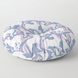 Rainbow unicorns ready for the weekend. Floor Pillow