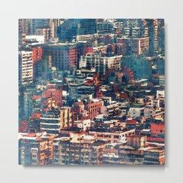 Continuous City Structures Metal Print