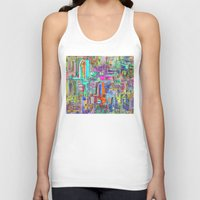 greek Tank Tops featuring GREEK PARADISE by S CHANTRAINE