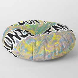I DON'T UNDERSTAND! Abstract with Black Filled Letters Floor Pillow