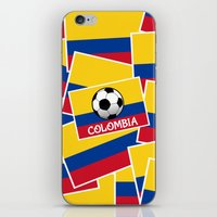 colombia iPhone & iPod Skins featuring Colombia Football by mailboxdisco
