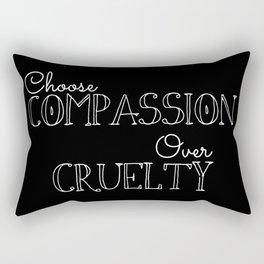 Compassion Over Cruelty Rectangular Pillow