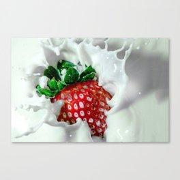strawberry and milk Canvas Print