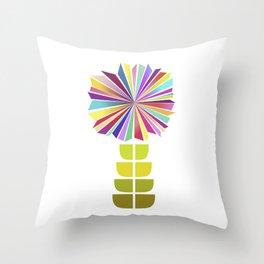 70ies flower No. 2 Throw Pillow