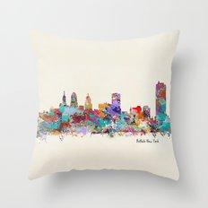 buffalo city new york Throw Pillow