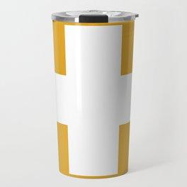 Swiss Cross Mustard Travel Mug