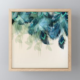 Beautiful Peacock Feathers Framed Mini Art Print