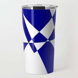Cobalt Blue Geometric Construct Travel Mug