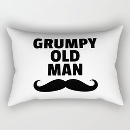 Grumpy Old Man Funny Quote Rectangular Pillow